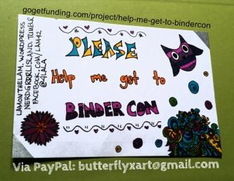 Help Me Get To BinderCon!